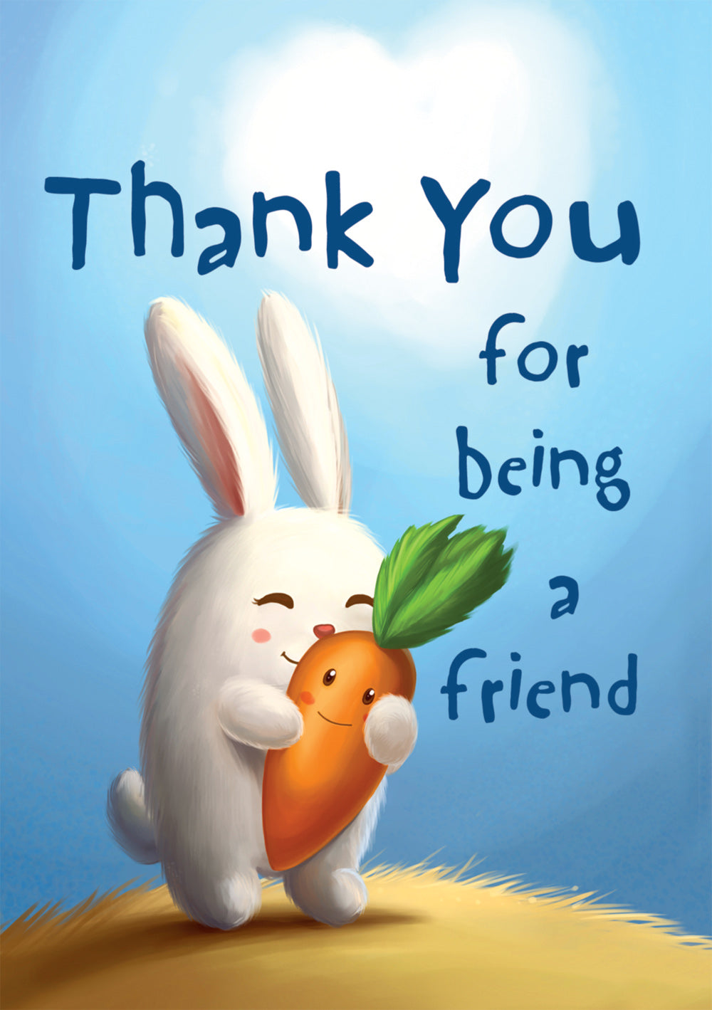 Thank You Bunny/Carrot - Standard Card Gloss (6 Pack)Thank You Bunny/Carrot - Standard Card Gloss (6 Pack)