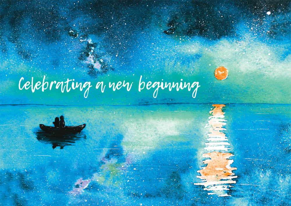 Celebrating A New Beginning - Std Card Waterboard (6 Pack)Celebrating A New Beginning - Std Card Waterboard (6 Pack)
