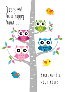 Happy Home - New Home Birds Foil Textured StdHappy Home - New Home Birds Foil Textured Std