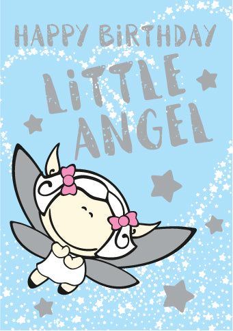 Little Angel Birthday -  Foil Textured StdLittle Angel Birthday -  Foil Textured Std