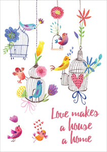 Love Makes A House A Home - Std Card  Waterboard (6 Pack)Love Makes A House A Home - Std Card  Waterboard (6 Pack)