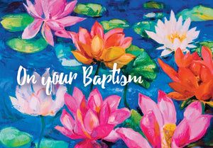 On Your Baptism (Flower) - Std Card  Waterboard (6 Pack)On Your Baptism (Flower) - Std Card  Waterboard (6 Pack)