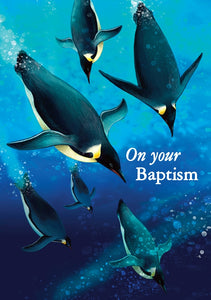 On Your Baptisim - Penguins Std Card  Gloss (6 Pack)On Your Baptisim - Penguins Std Card  Gloss (6 Pack)
