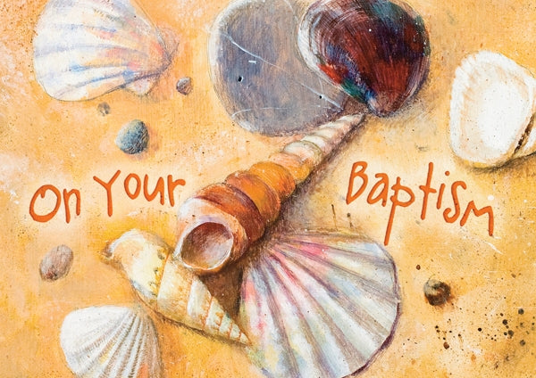 On Your Baptisim - Shells Std Card  Gloss (6 Pack)On Your Baptisim - Shells Std Card  Gloss (6 Pack)
