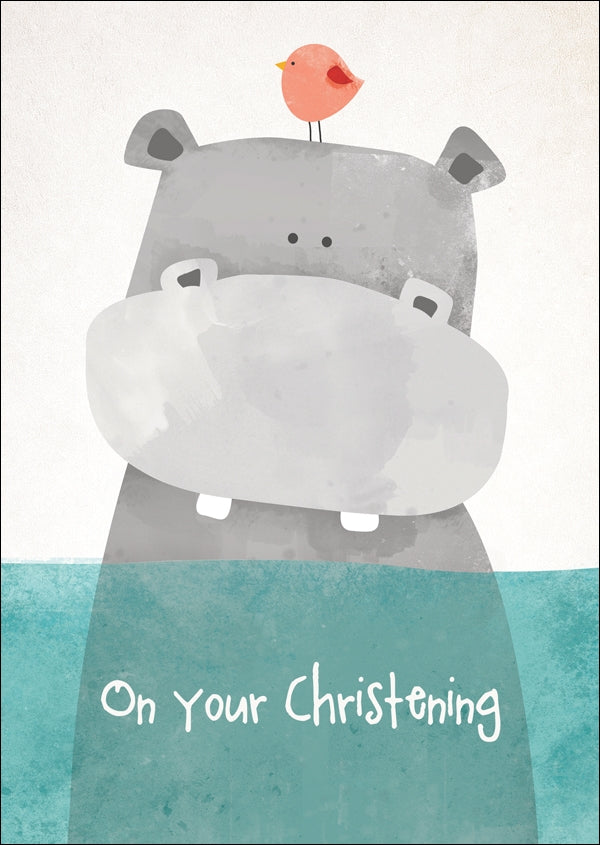 On Your Christening - Hippo Std Card  Gloss (6 Pack)On Your Christening - Hippo Std Card  Gloss (6 Pack)