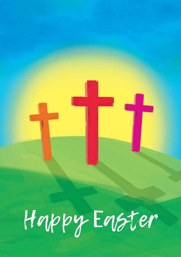 Happy Easter - Crosses Std Card  Gloss (6 Pack)Happy Easter - Crosses Std Card  Gloss (6 Pack)