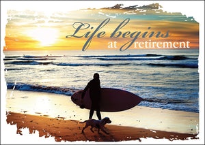 Life Begins - Retirement Std Card Gloss (6 Pack)Life Begins - Retirement Std Card Gloss (6 Pack)