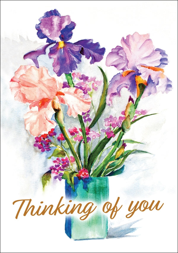 Thinking Of You - Flower Faces Std Card Gloss (6 Pack)Thinking Of You - Flower Faces Std Card Gloss (6 Pack)