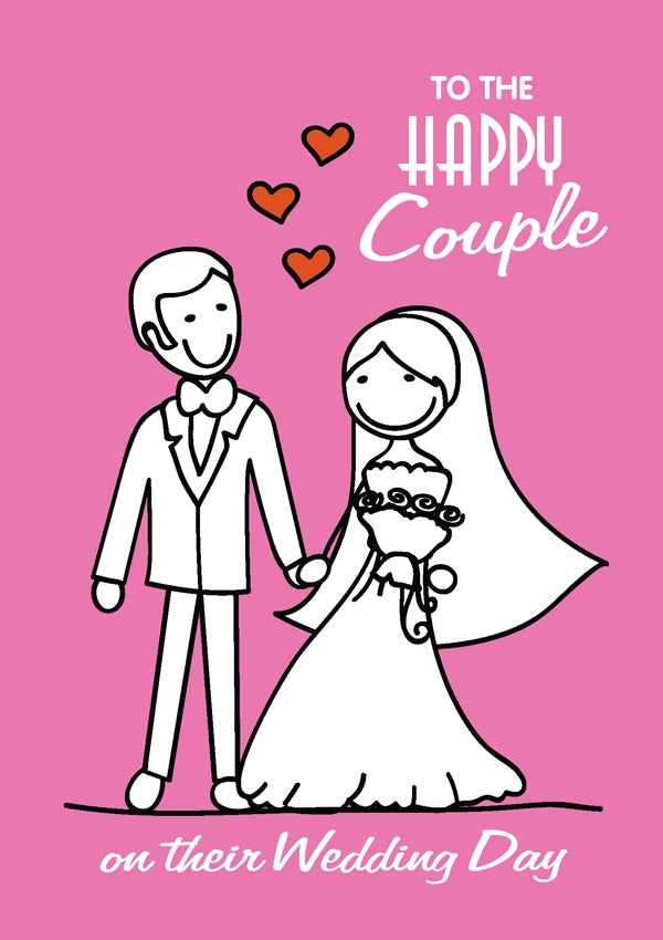 Happy Couple - Pink Std Card Gloss (6 Pack)Happy Couple - Pink Std Card Gloss (6 Pack)
