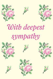 With Deepest Sympathy - Cross Stitch Std Card Gloss (6 Pack)With Deepest Sympathy - Cross Stitch Std Card Gloss (6 Pack)