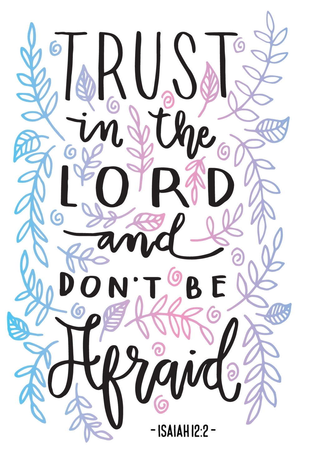 Trust In The Lord - Std Card Gloss (6 Pack)Trust In The Lord - Std Card Gloss (6 Pack)