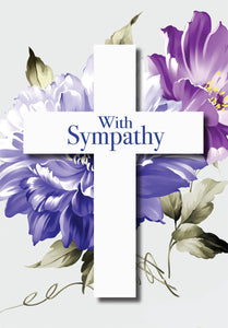 With Sympathy - Cross Std Card Gloss (6 Pack)With Sympathy - Cross Std Card Gloss (6 Pack)