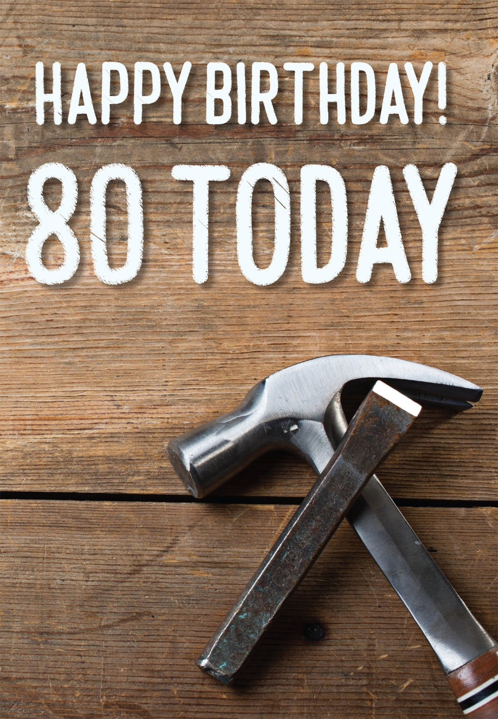 Happy Birthday 80 Today -  Tools Std Card Gloss (6 Pack)Happy Birthday 80 Today -  Tools Std Card Gloss (6 Pack)
