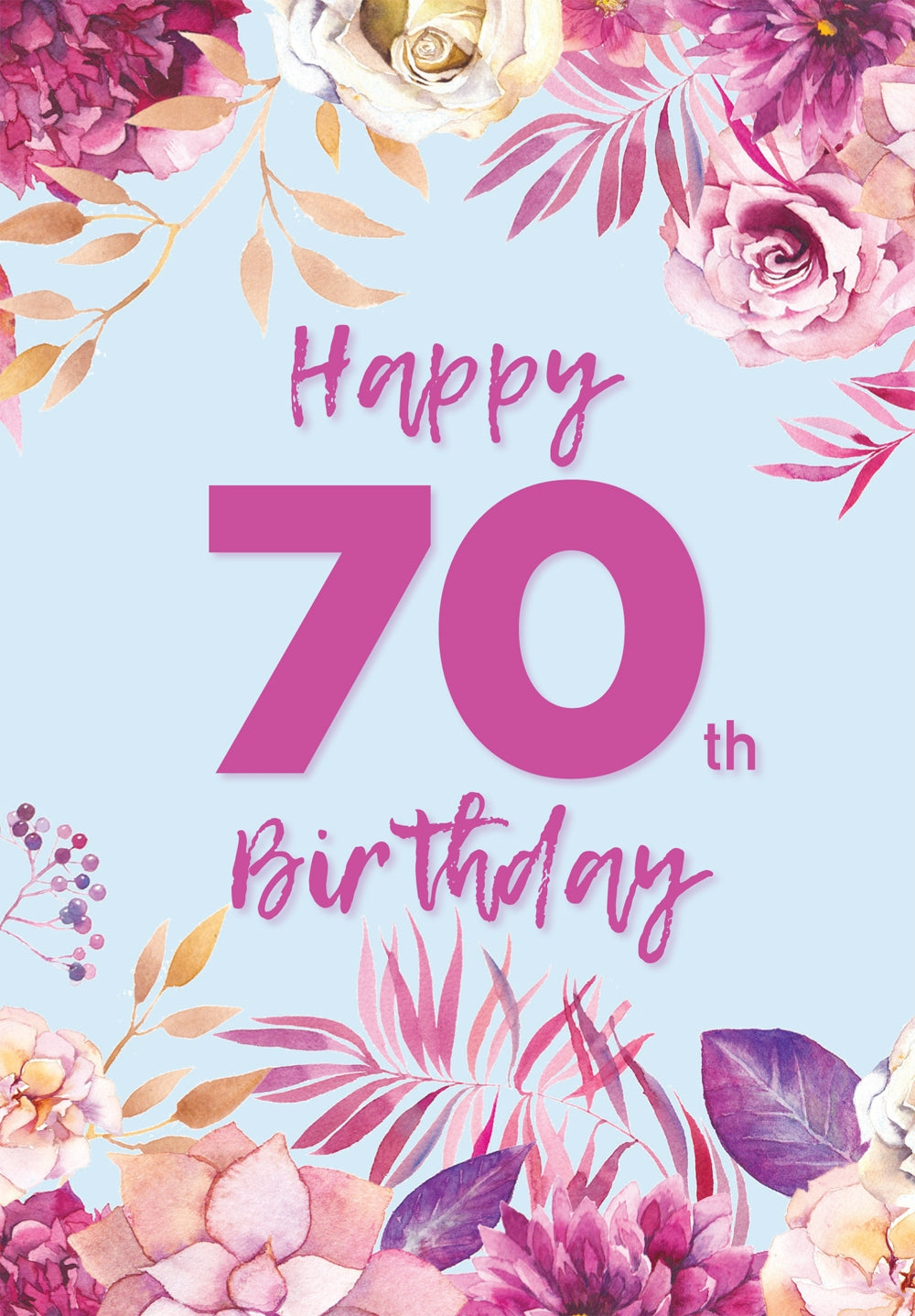 Happy 70Th Birthday -  Flowers Std Card Gloss (6 Pack)Happy 70Th Birthday -  Flowers Std Card Gloss (6 Pack)
