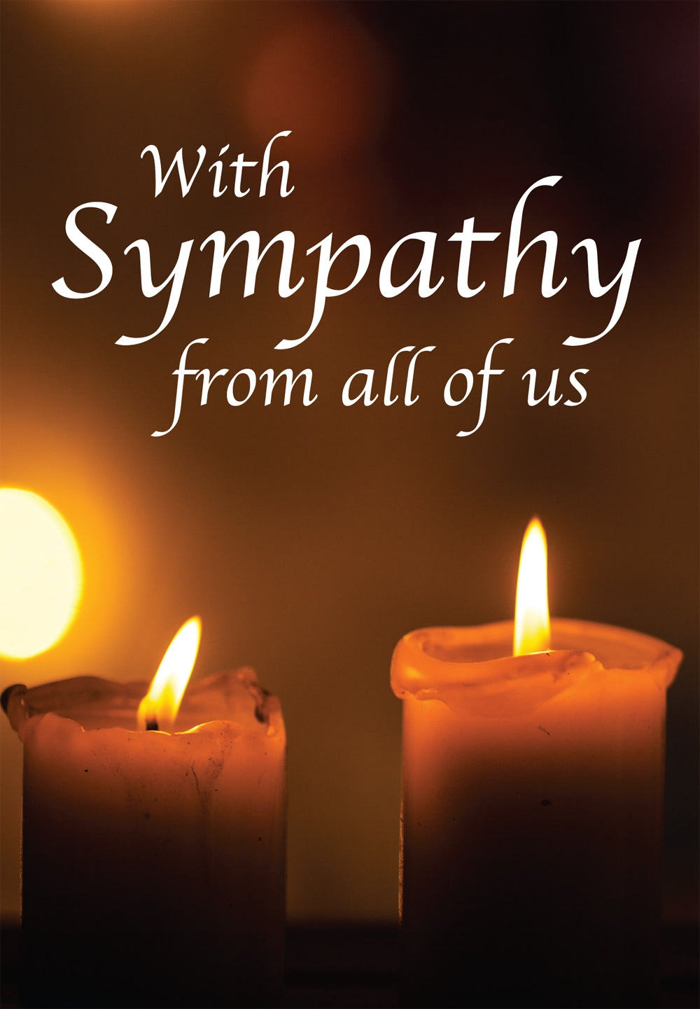 With Sympathy - Candles Std Card Gloss (6 Pack)With Sympathy - Candles Std Card Gloss (6 Pack)