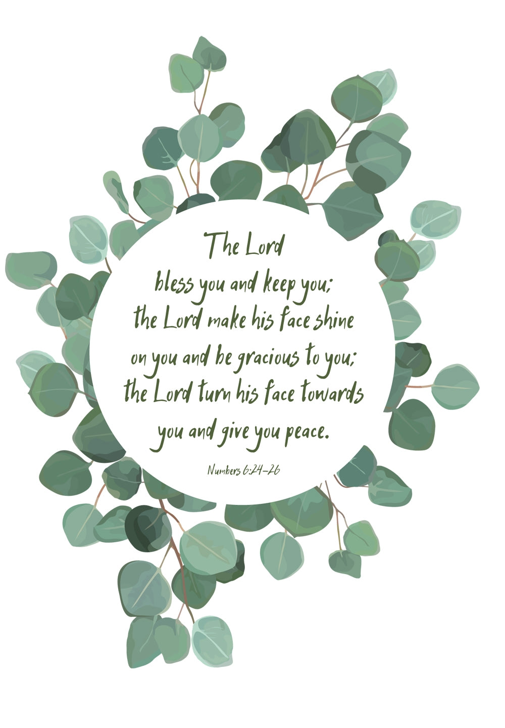 The Lord Bless You -  Leaves Std Card Gloss (6 Pack)The Lord Bless You -  Leaves Std Card Gloss (6 Pack)