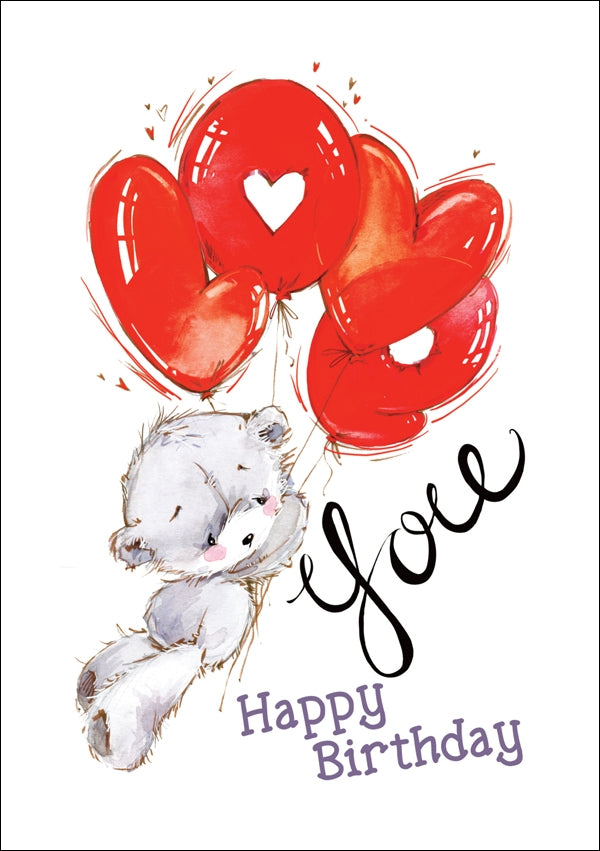 Happy Birthday - Love You Bear Std Card Textured (6 Pack)Happy Birthday - Love You Bear Std Card Textured (6 Pack)
