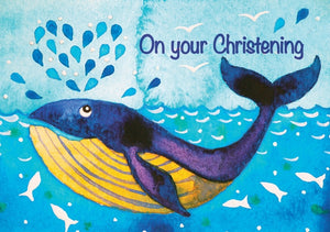 On Your Christening - Whale Std Card Textured (6 Pack)On Your Christening - Whale Std Card Textured (6 Pack)
