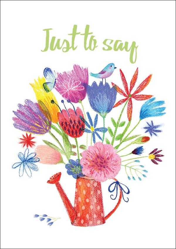 Just To Say - Watering Can Std Card Textured (6 Pack)Just To Say - Watering Can Std Card Textured (6 Pack)