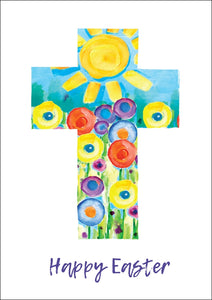 Happy Easter - Cross Sun Std Card Textured (6 Pack)Happy Easter - Cross Sun Std Card Textured (6 Pack)