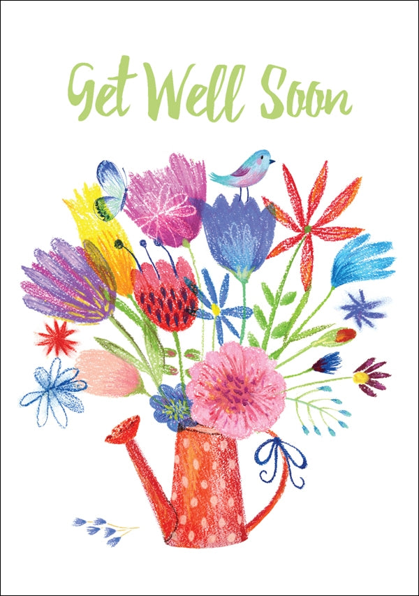 Get Well Soon - Watering Can Std Card Textured (6 Pack)Get Well Soon - Watering Can Std Card Textured (6 Pack)