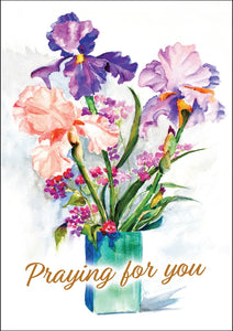 Praying For You - Flowers Std Card Textured (6 Pack)Praying For You - Flowers Std Card Textured (6 Pack)
