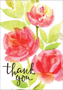 Thank You - Flowers Std Card Textured (6 Pack)Thank You - Flowers Std Card Textured (6 Pack)