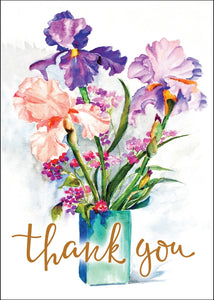 Thank You - Flowers In Vase Std Card Textured (6 Pack)Thank You - Flowers In Vase Std Card Textured (6 Pack)
