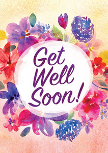 Get Well Soon - Flowers Std Card Textured (6 Pack)Get Well Soon - Flowers Std Card Textured (6 Pack)