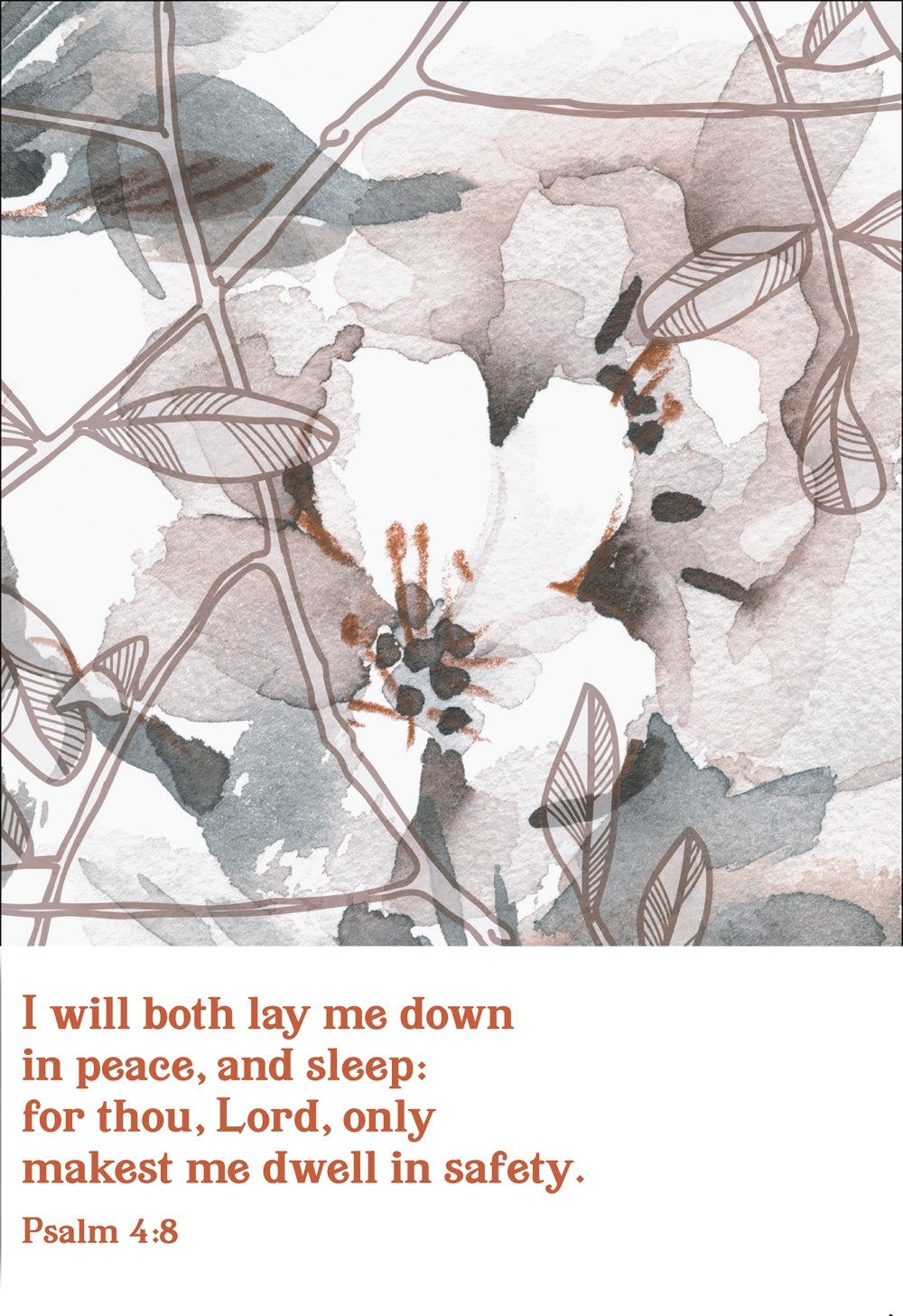 I Will Both Lay Me Down -  Flowers Std Card Textured (6 Pack)I Will Both Lay Me Down -  Flowers Std Card Textured (6 Pack)