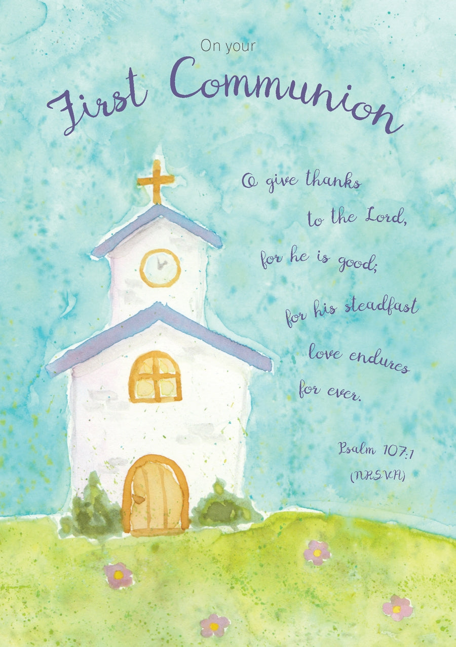 On Your First Communion - Church Std Card Textured (6 Pack)On Your First Communion - Church Std Card Textured (6 Pack)