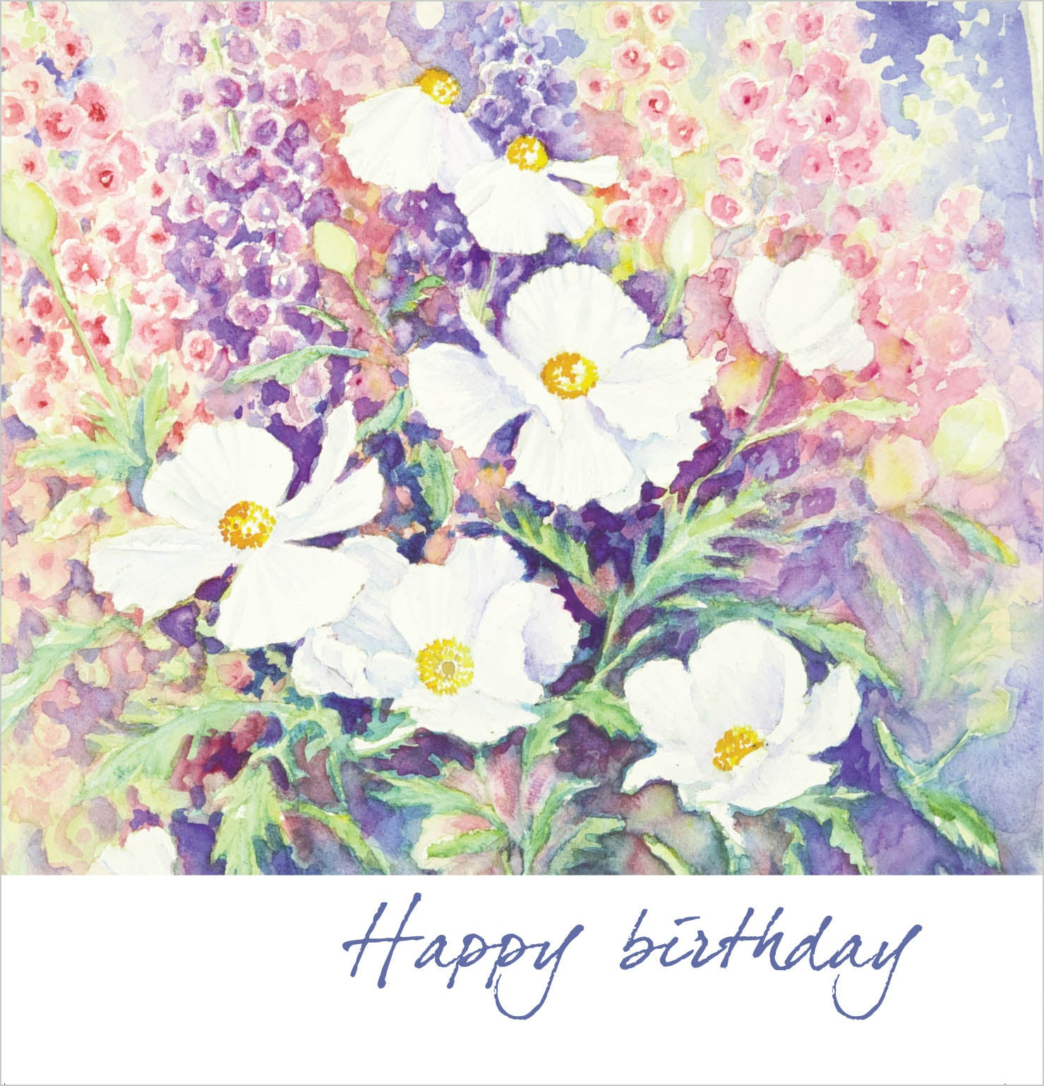 Happy Birthday - Square Card - TexturedHappy Birthday - Square Card - Textured