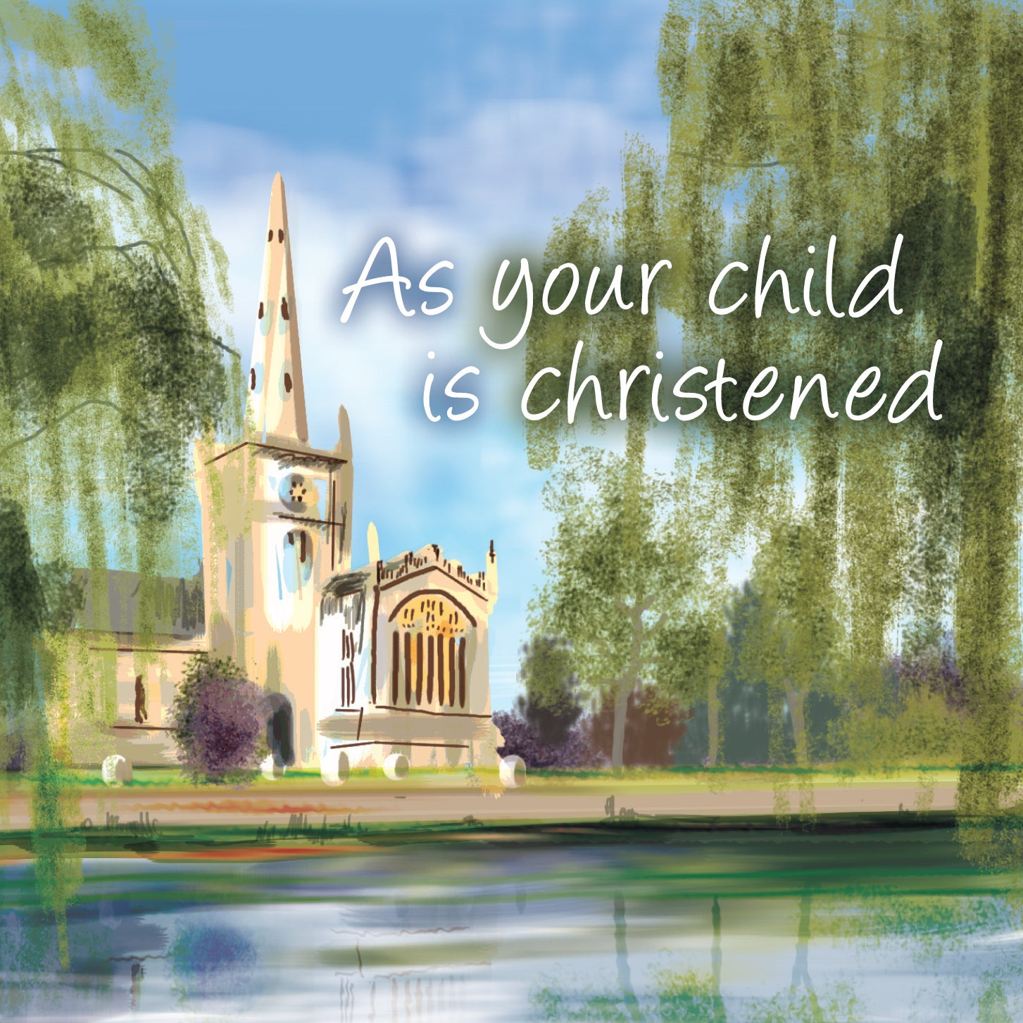 As Your Child Is Christened - Square CardAs Your Child Is Christened - Square Card