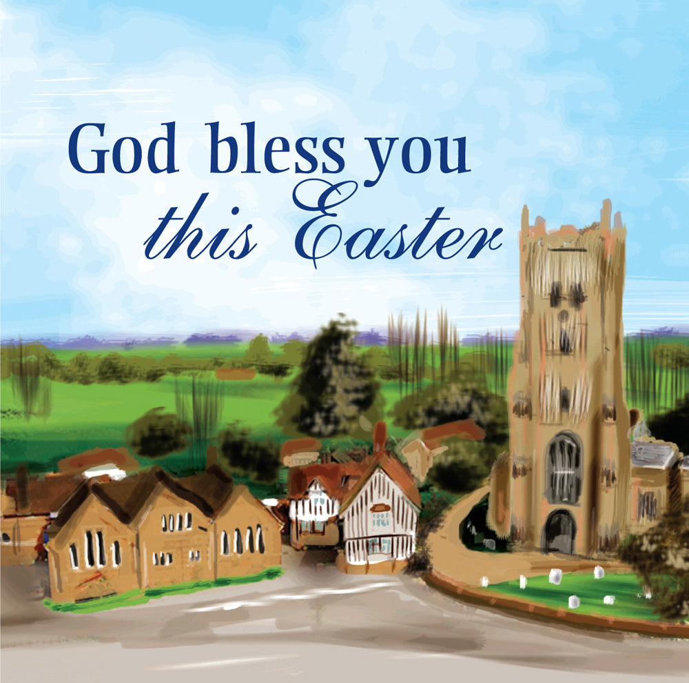 God Bless You This Easter - Square CardGod Bless You This Easter - Square Card