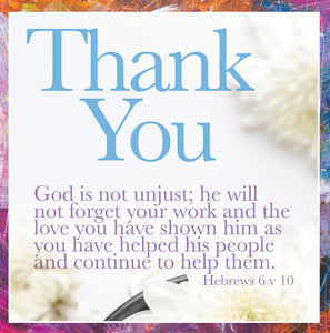 Thank You - God Is Not Unjust - Sq CardThank You - God Is Not Unjust - Sq Card