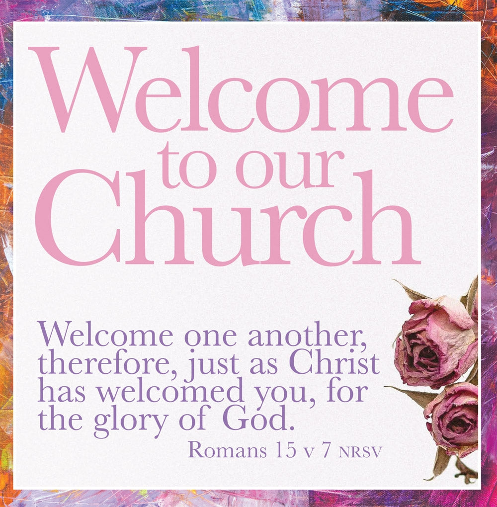 Welcome To Our Church - Therefore Welcome - Sq CardWelcome To Our Church - Therefore Welcome - Sq Card