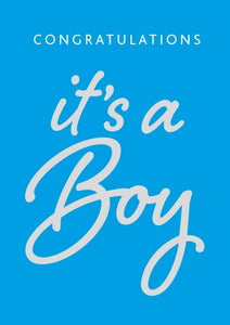 Congratulations Baby - Boy Blue Foil Gloss StdCongratulations Baby - Boy Blue Foil Gloss Std