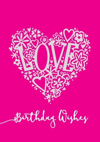 Birthday Wishes - Love Foil Gloss StdBirthday Wishes - Love Foil Gloss Std