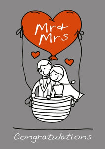 Congratulations - Mr & Mrs Foil Gloss StdCongratulations - Mr & Mrs Foil Gloss Std