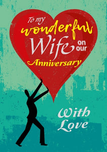 Wonderful Wife - Anniversary Silhouette Foil Gloss StdWonderful Wife - Anniversary Silhouette Foil Gloss Std
