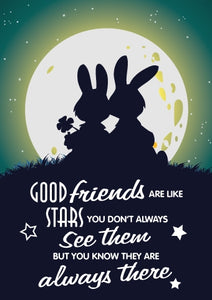 Good Friends - Friends Moon Foil Gloss StdGood Friends - Friends Moon Foil Gloss Std