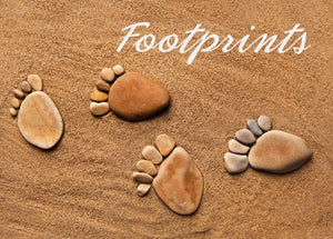 Footprints - Sand Foil Gloss StdFootprints - Sand Foil Gloss Std