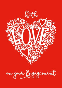 With Love - Engagement Pink Foil Gloss StdWith Love - Engagement Pink Foil Gloss Std