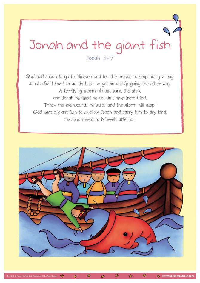 Poster Jonah & The Giant Fish A3Poster Jonah & The Giant Fish A3