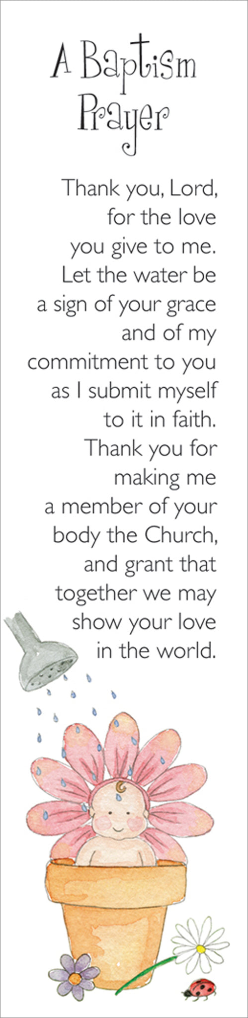 Bookmarks - A Baptism Prayer Pack  Of 10 Individual DesignBookmarks - A Baptism Prayer Pack  Of 10 Individual Design