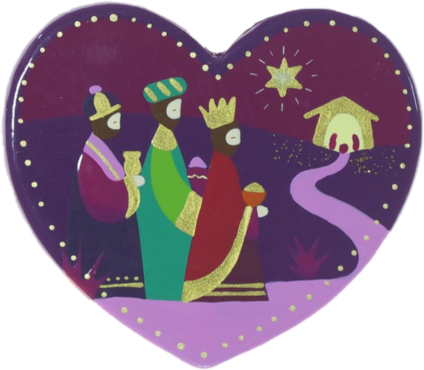 Three Kings Heart Christmas Decoration