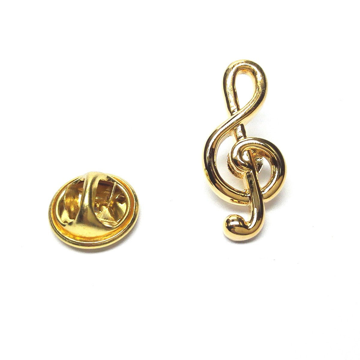 Gold Plated Treble Clef Lapel Pin Badge         (X2Ajtp133)Gold Plated Treble Clef Lapel Pin Badge         (X2Ajtp133)