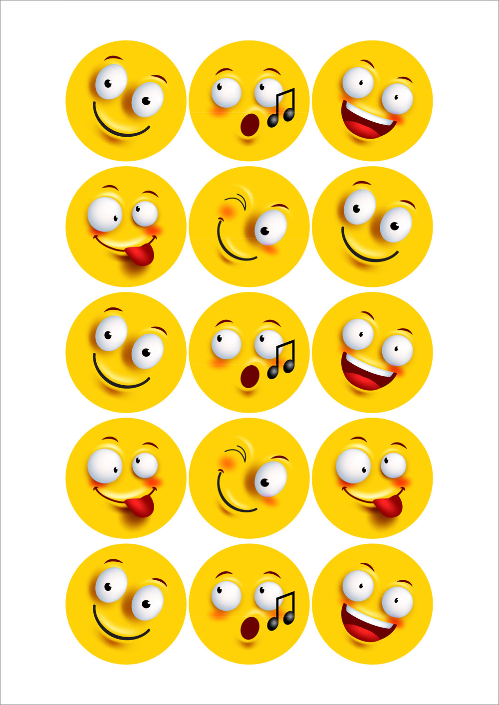 Faces  Sticker SheetsFaces  Sticker Sheets