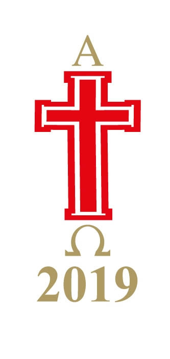 Candle Transfer - Red And White Cross 2019Candle Transfer - Red And White Cross 2019