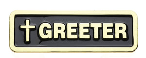Latin Greeter Badge (1209)Latin Greeter Badge (1209)